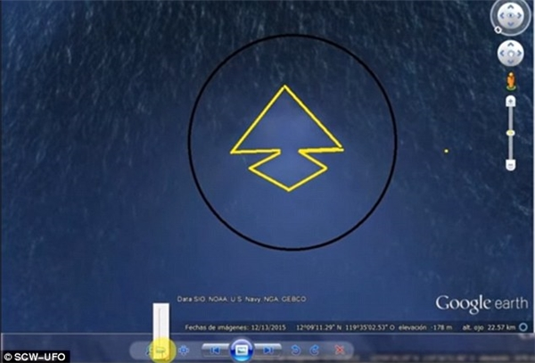 """Hình ảnh lờ mờ của """"kim tự tháp khổng lồ"""" trong lòng Thái Bình Dương"""