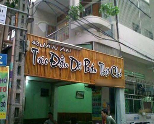 Rốt cuộc là quán này bán thịt dê hay thịt chó?