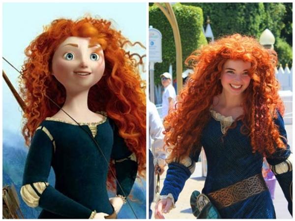 Nàng công chúa này có vẻ quyến rũ hơn phiên bản phim hoạt hình.