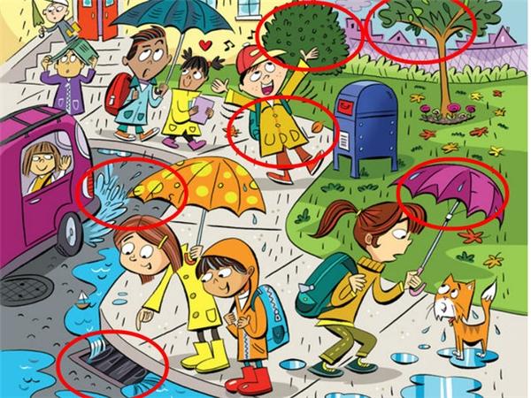 2. Clouds (đám mây), Stormy (Bão tố), Shower (trận mưa đá/tuyết/rào), Puddle (vũng nước), Wet (ướt), Damp (không khí ẩm ướt).(Ảnh Internet)