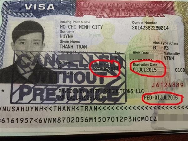 Visa P3 tuy đã gia hạn nhưng hiển thị hai ngày hết hạn khác nhau, một số vào năm 2015 và một số khác vào 2016. Chính vì sự không đồng nhất này mà hải quan Mỹ đã tạm giữ nam diễn viên lại để xác minh về thị thực. - Tin sao Viet - Tin tuc sao Viet - Scandal sao Viet - Tin tuc cua Sao - Tin cua Sao