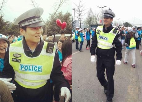 Chàng cảnh sát gây sốt với khuôn mặt gần giống nam diễn viên Chung Hán Lương.