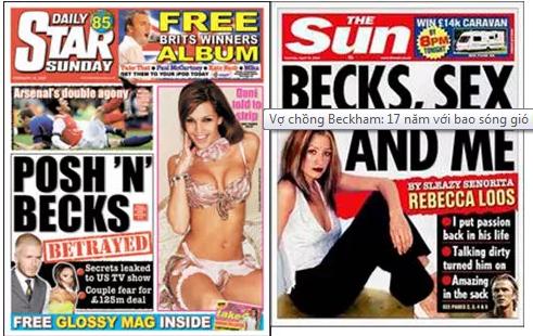"""Thời gian đầu sau khi kết hôn, Beckham không ít lần lên báo vì """"lăng nhăng"""" với những người đẹp khác"""