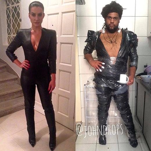 Nữ diễn viên người Brazil Cleo Pires với bộ trang phục được nhái lại... nằm mơ mới giống.