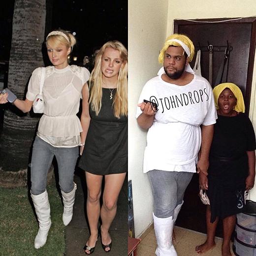 Paris Hilton và Britney Spears sau cosplay thì ăn diện thời trang và chất hơn hẳn.
