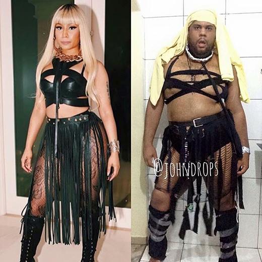 Nicki Minaj có lẽ sẽ rất thích thú được mời anh chàng đứng chung sân khấu.