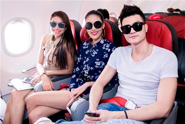 Từ trái sang phải:Phạm Hương, Lan Khuê, Vĩnh Thụy.