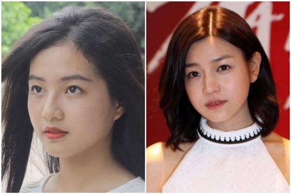 Đôi mắt to, tròn cùng gương mặt bầu bĩnh của Bích Ngọc khiến nhiều người liên tưởng đến nữ diễn viên xinh đẹp Trần Nghiên Hy. (Ảnh: Internet)