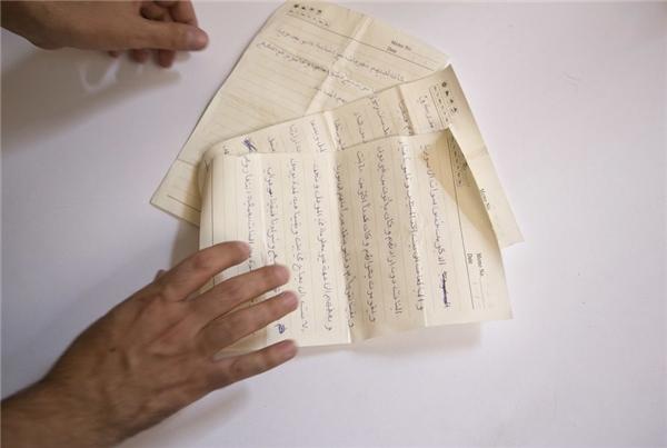 Những lá thư hiếm hoi của Lamiya gửi cho gia đình.