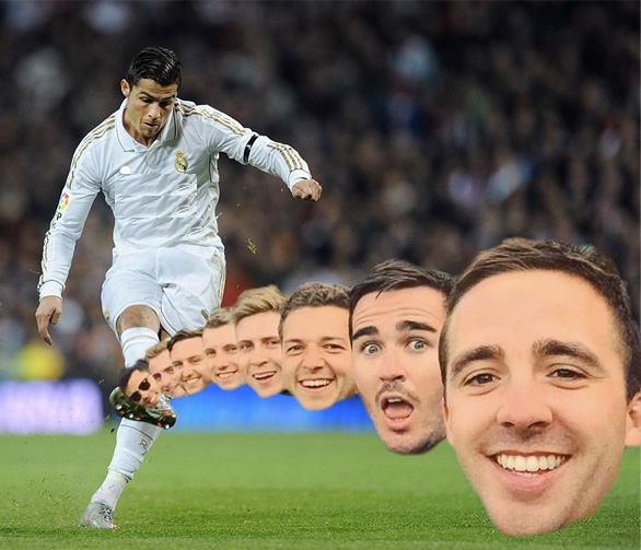 Cú sút này của Ronaldo chắc chắn là thủng lưới.
