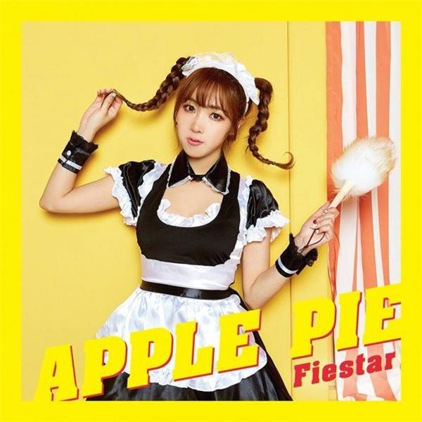 Tháng 3 vừa qua, nhóm nữ FIESTAR tung ra MV mới Apple Pie với phong cách nữ tính. Trong loạt ảnh quảng bá, các thành viên hóa thân thành những hình tượng khác nhau, riêng Hyemi mang đến tạo hình hầu gái với 2 bím tóc dễ thương.