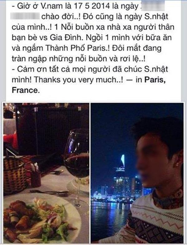 """Anh chàng đăng ảnh nói rằng mình đang 1 mình ở Paris ăn sinh nhật nhưng tòa nhà Bitexco lại """"tố cáo"""" rằng anh ta đang """"sống ảo"""".(Ảnh: Internet)"""