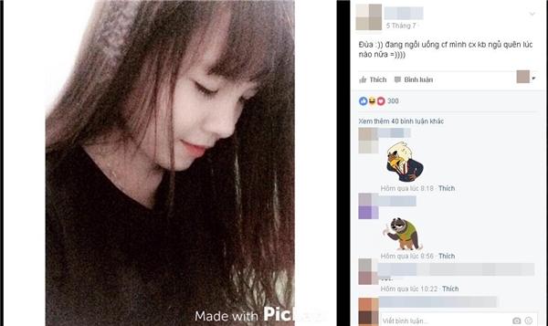 """Cô gái xinh xắn này cũng đăng hình """"ngủ quên bị chụp lén"""" khiến mọi người """"cười bò"""".(Ảnh: Internet)"""