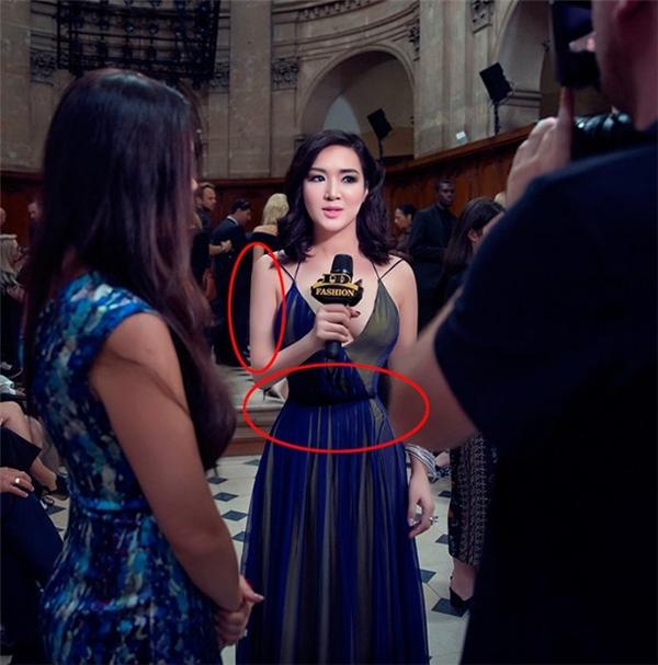 Cụ thể, phần eo, cổ, mặt của Hoa hậu đền Hùng bị bóp không thương tiếc khiến cơ thể của cô trông dị dạng đến khó hiểu. Loạt ảnh này được cư dân mạng chia sẻ liên tục trong 2 ngày qua.