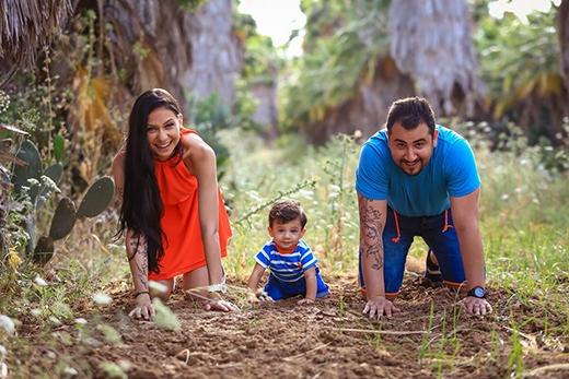 Gia đình hạnh phúc của Liel cùng chồng, Udig, và con trai, Sean.
