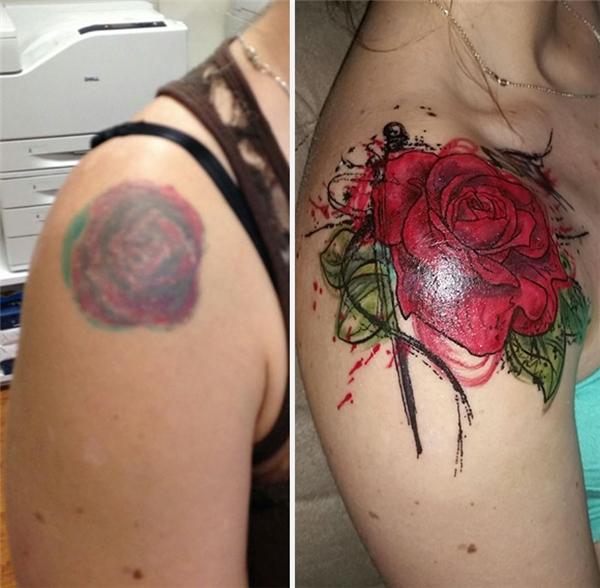"""Cái bông hồng xấu xí lem luốc đã trải qua """"tuổi dậy thì"""" để trở thành một bông hoa rực rỡ và tươi đẹp. (Ảnh: dontfuckingthink)"""