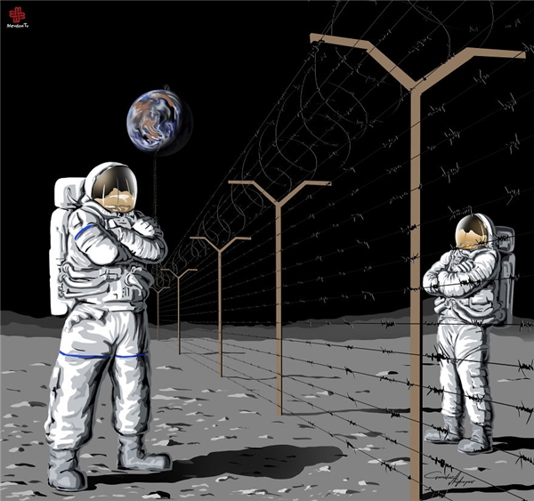 Đến cả mặt trăng những hành tinh xa lạ còn cần hợp sức khám phá mà con người lại chỉ lo chia đất, phân vùng lãnh thổ thì đến khi nào mới mở rộng được thế giớimới mẻ?