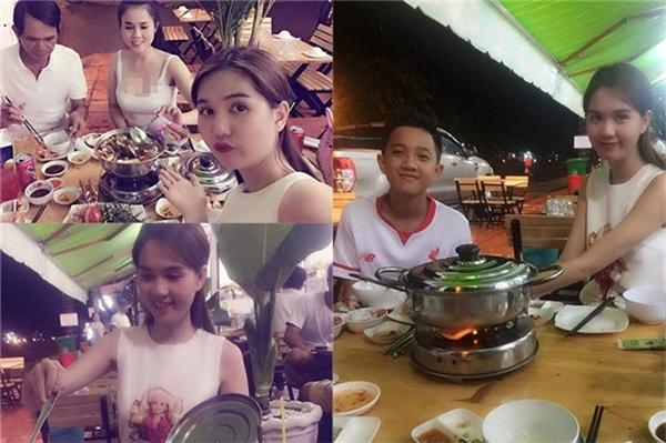 Có nhiều tiền nhưng mỗi bữa ăn của Ngọc Trinh lại vô cùng giản dị. Hạnh phúc lớn nhất với cô là được quây quầng bên gia đình yêu thương. - Tin sao Viet - Tin tuc sao Viet - Scandal sao Viet - Tin tuc cua Sao - Tin cua Sao
