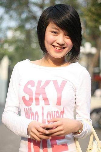 Mi Vân được yêu mến bởi gương mặt bầu bĩnh, má lúm đồng tiền và nụ cười tỏa nắng.