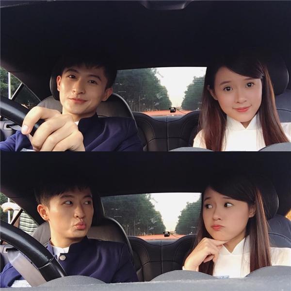 Bức ảnh khiến fan đặt nghi án Midu hẹn hò Harry Lu. Tuy nhiên cô nàng đã nhanh chóng giải thích với fan đây chỉ là một cảnh quay trong bộ phim mới của họ mà thôi.