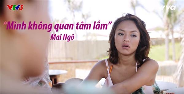 Trước mọi xì xầm, Quỳnh Mai cho biết không hề quan tâm.