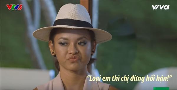 """Câu nói ấn tượng nhất của Quỳnh Mai trong tập 4 vừa phát sóng: """"Loại em chị đừng hối hận""""."""