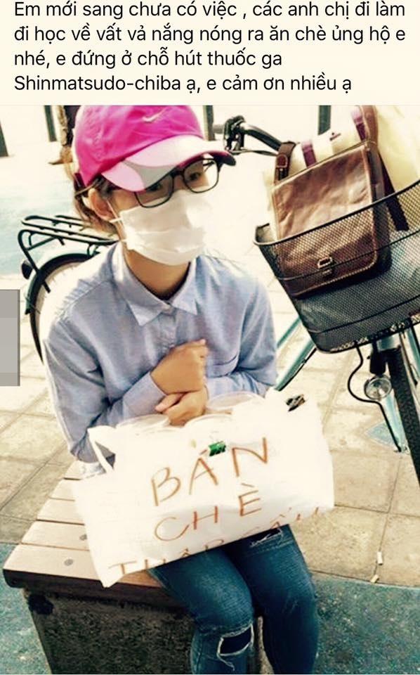 Cô bạn du học sinh vừa chân ướt chân ráo sang Nhật.(Ảnh: Chụp FB)