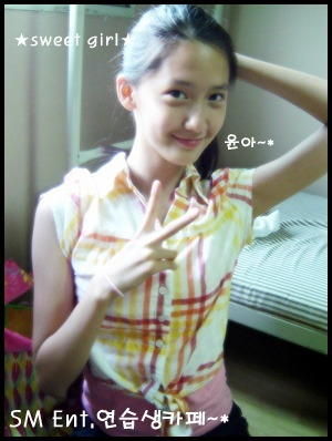 Nữ thần Yoona của SNSD sớm chứng tỏ vẻ đẹp tự nhiên hiếm có của mình ngay khi còn là thực tập sinh.