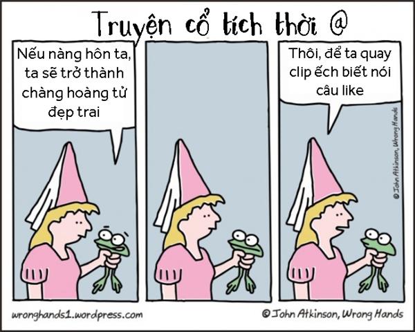 Truyện cổ tích hoàng tử ếch thời hiện đại.