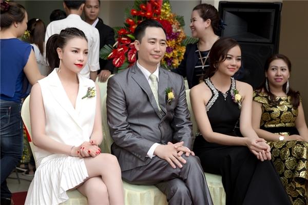 Trà Ngọc Hằng nổi bật trên ghế khách mời trong sự kiện vừa qua.