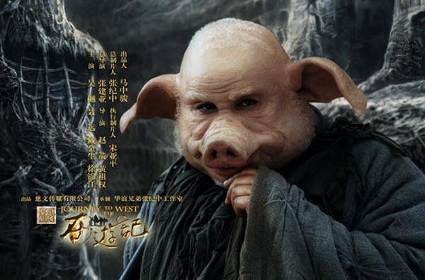 Nhân vậtTrư Bát Giới trong phim thì có tạo hình khá trần tục.