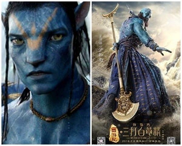 Vâng nhân vật Sa Tăng này chắc có họ hàng với tộc người da xanh Navi trong bom tấn Avatar.