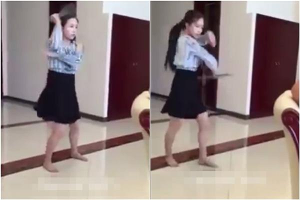 """""""Sốc"""" với cô gái mặc váy múa côn nhị khúc như """"đệ tử Hoàng Phi Hồng"""""""