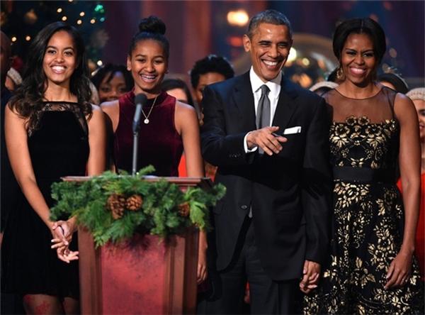 Gia đình Tổng thống Mỹ Barrack Obama.