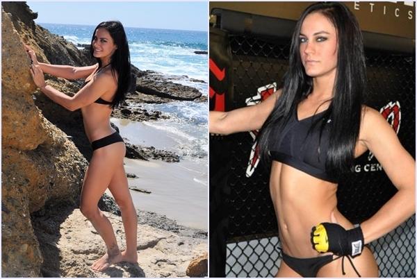 """Cô nàng Rachael Cummins có thể trở thành một người mẫu xinh đẹp nhờ vào vóc người ấn tượng và quyến rũ, tuy nhiên, cô lại """"dấn thân"""" vào con đường đấu võ tự do MMA. Tay đấm chuyên nghiệp của sàn đấu MMA – nàng báo xinh đẹp Rachael đã có những màn đấu rất thành công kể từ khi cô ra mắt.(Ảnh Internet)"""
