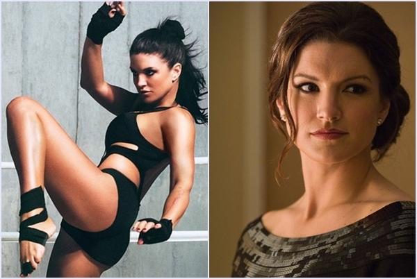 """""""Bóng hồng xinh đẹp"""" Gina Carano chắc không quá xa lạ với các bạn đâu nhỉ? Trước khi trở thành nữ diễn viên nổi tiếng thế giới, Gina đã từng là """"Gương mặt của MMA nữ"""", một trong những đả nữ nổi tiếng trong giới MMA toàn cầu. Một số bộ phim tiêu biểu có sự tham gia của Gina có thể kể đến Fast and Furious 7, In the blood…(Ảnh Internet)"""