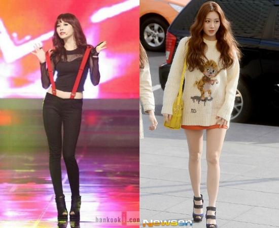 Yura (Girl's Day) chưa bao giờ thiếu tên trong danh sách những đôi chân đẹp của Kpop.