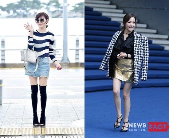 Tiffany (SNSD) vốn vẫn thường được xếp vào danh sách chân đẹp của Kpop, tuy nhiên, trong thời gian gần đây đôi chân của nữ ca sĩ thường xuyên rơi vào tình trạng gầy trơ xương và nổi gân xanh, khiến fan lo lắng.
