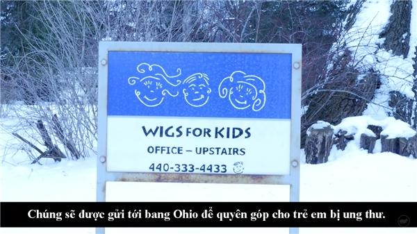 Chúng sẽ được gói lại và gửi đến tổ chức ởbang Ohio.(Ảnh:What Happens When You Donate Your Hair? - Youtube)