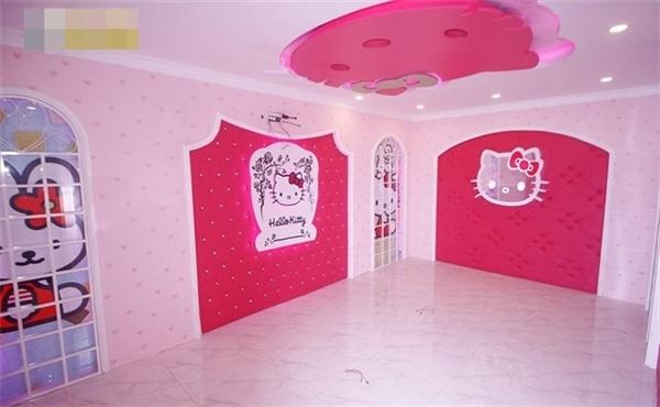 Nội thất đặc sắc của phòng karaoke Hello Kitty.(Ảnh: Internet)