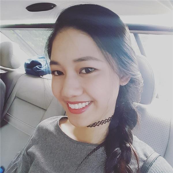 Cận cảnh gương mặt của nhan sắc 22 tuổi. Hiện tại, Ngô Thanh Thanh Tú đang tích cực tập luyện cho đêm chung khảo sắp tới.