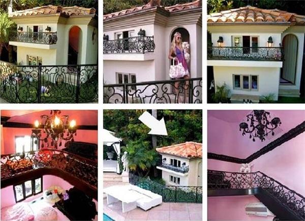 Đây chính là cái dinh thự thứ thiệt của cục cưng nhà Hilton. Bạn sẽ thấy choáng váng khi biết số tiền mà cô nàng Paris Hilton bỏ ra chỉ để xây nhà cho cún cưng của mình đấy: 325.000$ (khoảng 7,4 tỉ đồng). Đây chính là phiên bản nhí căn biệt thự của chính Paris Hilton. (Ảnh Internet)