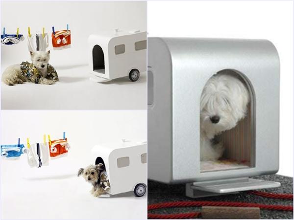 """Nếu thích cuộc sống du mục, nay đây mai đó, thì đây là """"mái ấm"""" lí tưởng cho các chú chó của bạn. Thiết kế sang trọng với vật liệu xây dựng chính là gốm sứ chất lượng cao, ngôi nhà di động này có giá 1.275$ (khoảng 28,5 triệu đồng). Chỉ cần xỏ thêm một cái dây xinh đẹp vào ngôi nhà, người chủ có thể kéo chú chó đi đến bất cứ nơi nào, tuyệt vời quá đúng không? (Ảnh Barkpost)"""