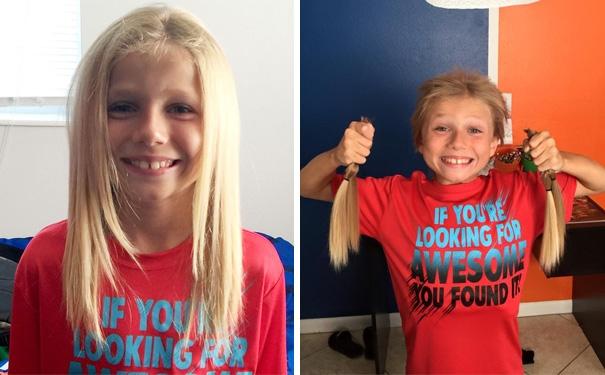 Suốt 2 năm rưỡi, mặc dù bị các bạn trong trường liên tục chế nhạo thế nhưng Christian vẫn quyết tâm nuôi tóc dài để dành tặng mái tóc xinh đẹp của mình cho bệnh nhânung thư.