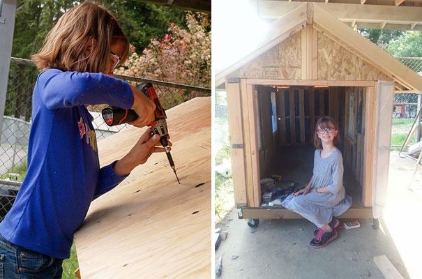 Mặc dù mới 9 tuổi nhưng cô bé này đã tự tay làm ra những căn nhà lưu động cho người vô gia cư. Đặc biệt, cô bé còn trồng một vườn rau nhỏ để giúp họ có thêm đồ ăn.