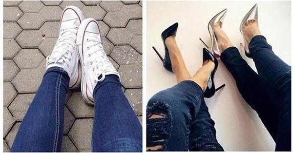 Có một số cô gái không bao giờ đụng đến giày cao gót.