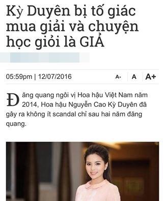 Dòng chia sẻ mới nhấtcủa Kỳ Duyên và ê-kíp.  Rất nhiều trang tin đã đăng tải bài viết nhằm bôi nhọ danh dự của Hoa hậu Việt Nam 2014 và ảnh hưởng tới nhiều đơn vị, tổ chức liên quan. - Tin sao Viet - Tin tuc sao Viet - Scandal sao Viet - Tin tuc cua Sao - Tin cua Sao