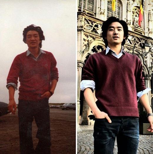 Đây là hai người hay chỉ là cùng một người thế này? Cả trang phục cũng giống nhau cơ mà.