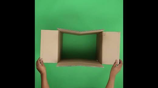 Biến thùng giấy thành ghế ngồi cực thú vị