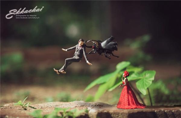 Ai lại không thích một bộ ảnh cưới vừa độc vừa đáng yêu thế này? (Ảnh:Ekkachai Saelow)